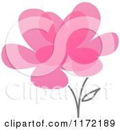 Pink Abstract Flower