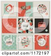 Clipart Of Retro Restaurant Menu Designs Royalty Free Vector Illustration