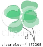 Clipart Of A Green Abstract Shamrock Royalty Free Vector Illustration by elena