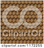 Clipart Of A 3d Brown Wicker Weave Background Royalty Free Vector Illustration