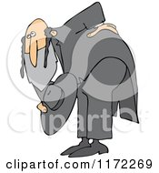 Cartoon Of A Polite Rabbi Bowing Royalty Free Vector Clipart by djart