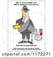 Poster, Art Print Of Dot Man Looking At A Meter With Text