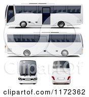 White Tour Buses