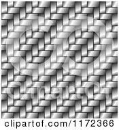 Clipart Of A Shiny Metal Weave Background With Diagonal Lines Royalty Free Vector Illustration by vectorace