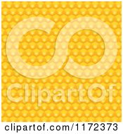 Clipart Of A Golden Honeycomb Background Royalty Free Vector Illustration by vectorace