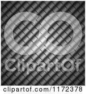 Clipart Of A Dark Metal Square Background With Diagonal Lines Royalty Free Vector Illustration by vectorace