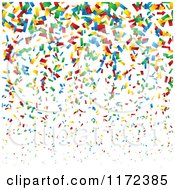 Clipart Of A Colorful Confetti Background Royalty Free Vector Illustration by vectorace #COLLC1172385-0166