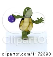 Clipart Of A 3d Tortoise Swinging A Bowling Ball Royalty Free CGI Illustration by KJ Pargeter