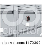 Clipart Of A Closeup Of A 3d Filing Cabinet Royalty Free CGI Illustration