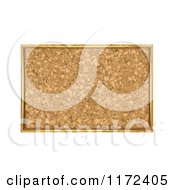 Clipart Of A Framed Cork Board Bulletin Royalty Free Vector Illustration by vectorace