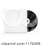 Clipart Of A Vinyl Record And Sleeve Royalty Free Vector Illustration