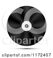 Clipart Of A Floating Vinyl Record Royalty Free Vector Illustration