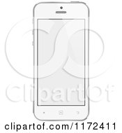Clipart Of A White Touch Screen Smart Cell Phone With A Blank Display Royalty Free Vector Illustration by vectorace
