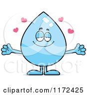 Cartoon Of A Loving Water Drop Mascot Royalty Free Vector Clipart by Cory Thoman