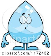 Cartoon Of A Surprised Water Drop Mascot Royalty Free Vector Clipart by Cory Thoman