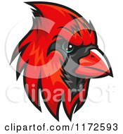 Clipart Of A Red Cardinal Head Royalty Free Vector Illustration