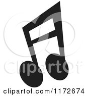 Clipart Of A Black Music Eighth Notes Royalty Free Vector Illustration by Andy Nortnik