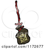 Cartoon Of A Witch Spell Bag Royalty Free Vector Clipart