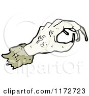 Cartoon Of A Zombie Hand Royalty Free Vector Clipart by lineartestpilot
