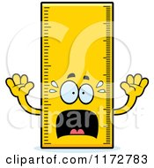 Cartoon Of A Screaming Ruler Mascot Royalty Free Vector Clipart