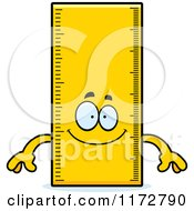 Cartoon Of A Happy Ruler Mascot Royalty Free Vector Clipart
