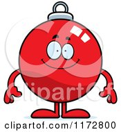 Cartoon Of A Happy Christmas Ornament Mascot Royalty Free Vector Clipart
