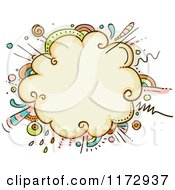 Cartoon Of A Burst Explosion Frame Royalty Free Vector Clipart