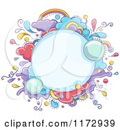Cartoon Of A Whimsy Burst Explosion Frame Royalty Free Vector Clipart