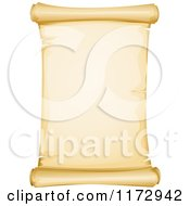 Cartoon Of An Antique Aged Parchment Paper Scroll Page Royalty Free Vector Clipart