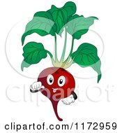 Cartoon Of A Proud Beet Mascot Royalty Free Vector Clipart by BNP Design Studio