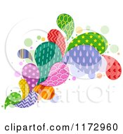 Cartoon Of A Colorful Patterned Splash Royalty Free Vector Clipart