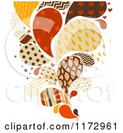 Cartoon Of A Retro Colored And Patterned Splash Royalty Free Vector Clipart