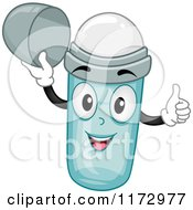 Cartoon Of A Happy Deodorant Mascot Holding A Thumb Up Royalty Free Vector Clipart by BNP Design Studio