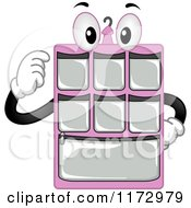Cartoon Of A Pink Hanging Closet Organizer Mascot Royalty Free Vector Clipart by BNP Design Studio