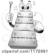 Cartoon Of A Musical Xylophone Mascot Royalty Free Vector Clipart