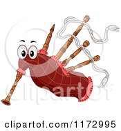 Cartoon Of A Bagpipes Mascot Royalty Free Vector Clipart by BNP Design Studio