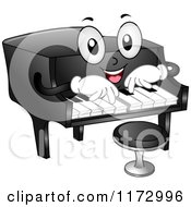 Cartoon Of A Grand Piano Mascot Royalty Free Vector Clipart by BNP Design Studio