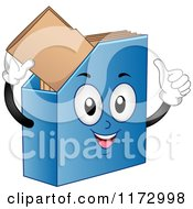 Cartoon Of A Blue Magazine File Organizer Royalty Free Vector Clipart by BNP Design Studio