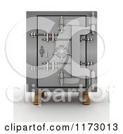 Clipart Of A 3d Locked Vault Safe Royalty Free CGI Illustration by KJ Pargeter