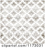 Clipart Of A Seamless Brown Textured Damask Pattern On White Royalty Free CGI Illustration by Arena Creative