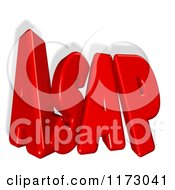 Clipart Of 3d Red ASAP With A Shadow On White Royalty Free CGI Illustration