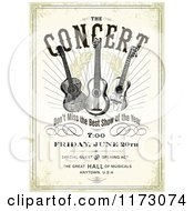Grungy Concert Poster Design With Three Guitars And Sample Text
