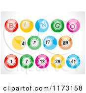 Clipart Of Colorful Pixelated Bingo Balls Royalty Free Vector Illustration
