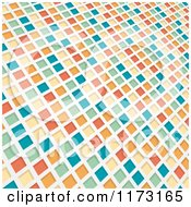 Clipart Of A Colorful 3d Mosaic Background Royalty Free Vector Illustration