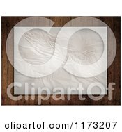 Clipart Of A Piece Of Wrinkled Paper Over Grungy Wood Royalty Free CGI Illustration