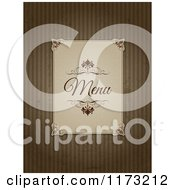 Vintage Menu Label On Grungy Brown Stripes