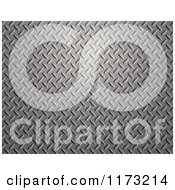 Clipart Of A 3d Diamond Plate Metal Texture Background Royalty Free CGI Illustration