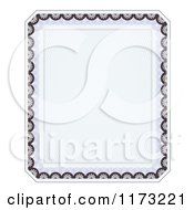Clipart Of A Certificate Frame Design Royalty Free Vector Illustration by vectorace