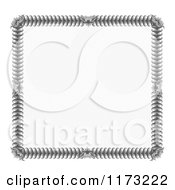 Clipart Of A Certificate Frame Design 6 Royalty Free Vector Illustration