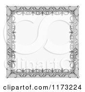 Clipart Of A Certificate Frame Design 4 Royalty Free Vector Illustration